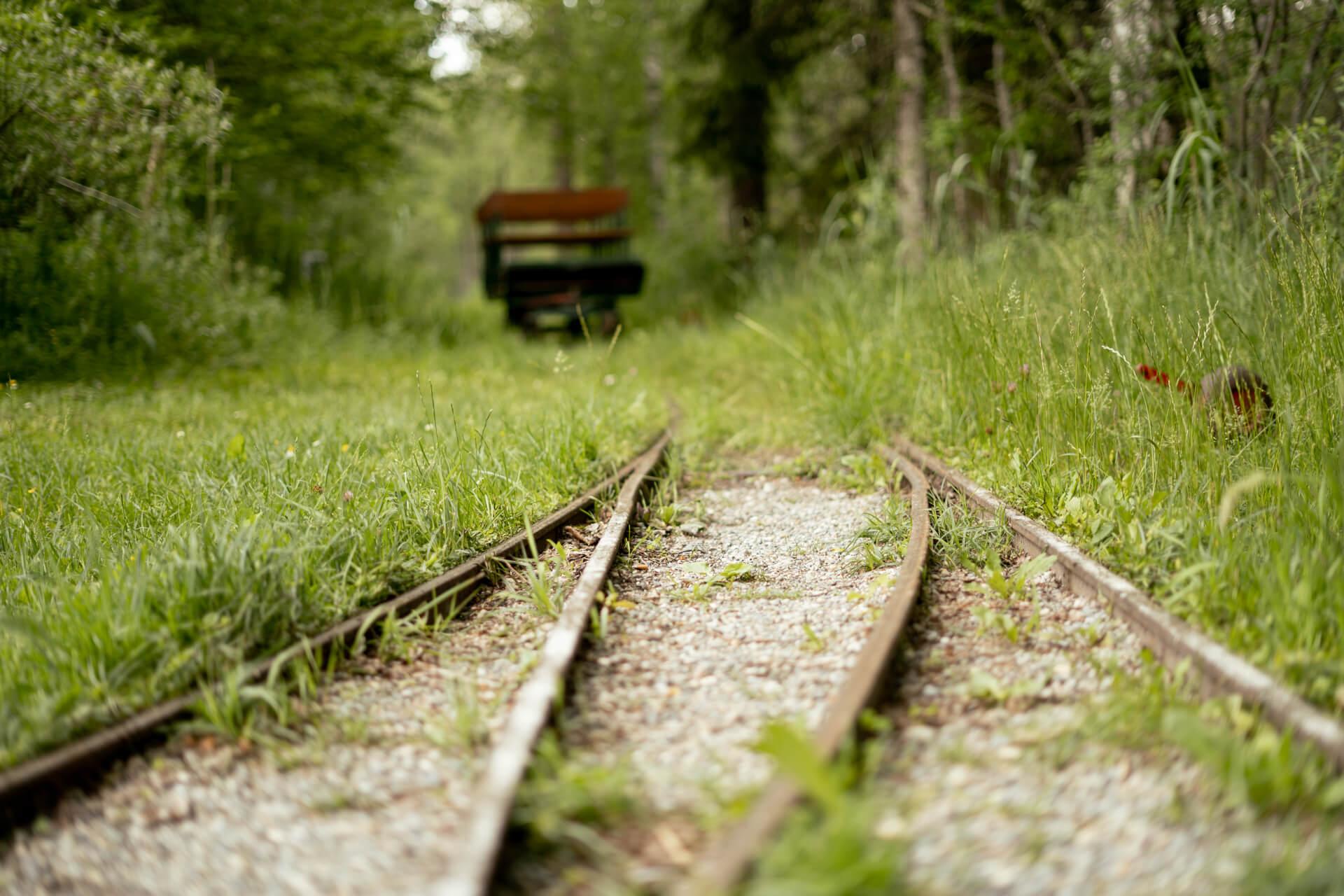 Nahaufnahme Bahngleise