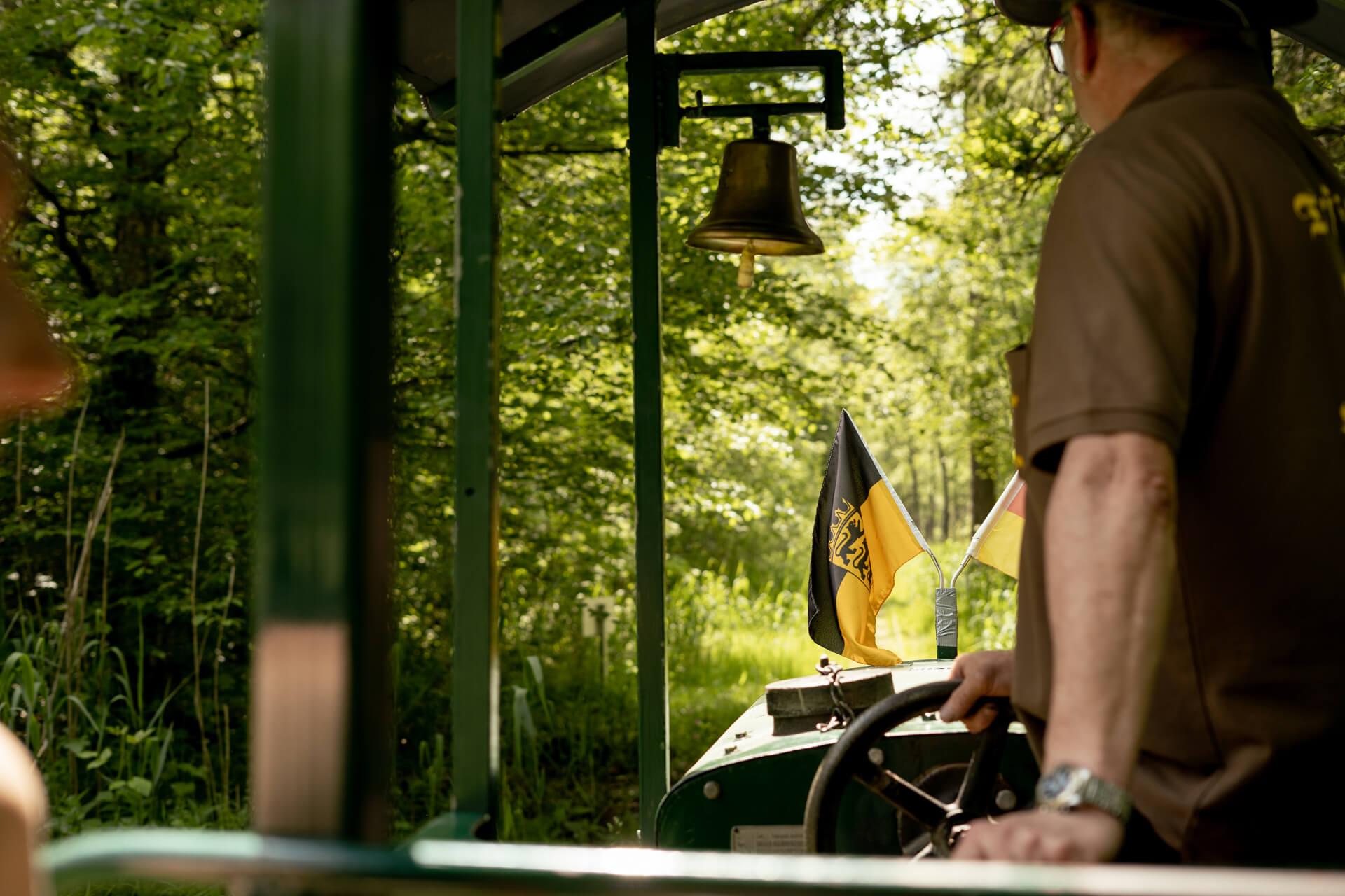 Lokführer auf der Bahn